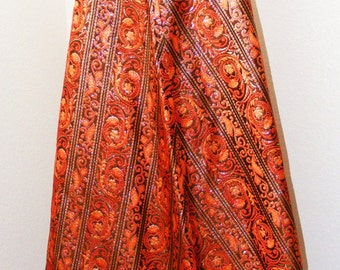 Very Nice Vintage 1970s Long Belted Skirt by EG California in size 12