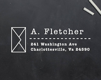 Personalized Return Address Stamp, Custom Address Stamp, Last Name Stamp, Return Address Stamp Self Inking, Wood Mounted Stamp (S127)