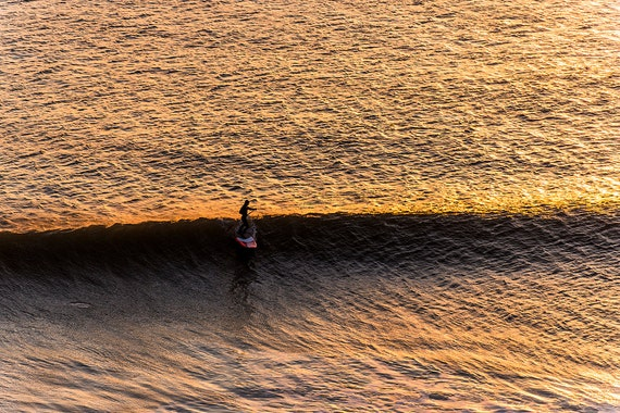 SUNSET SURFER. Surfing Picture, Surf Print, photographic Print, Limited Edition Print