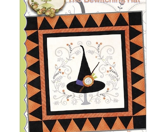 "Pattern ""Bewitching Hat Quilt"" by Crabapple Hill Studio #353 Hand Embroidery Quilt Pattern"