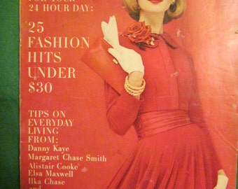 October 1956 GLAMOUR Fashion  Magazine