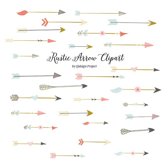 Rustic Arrow Clipart For Scrapbooking Wedding Invitation