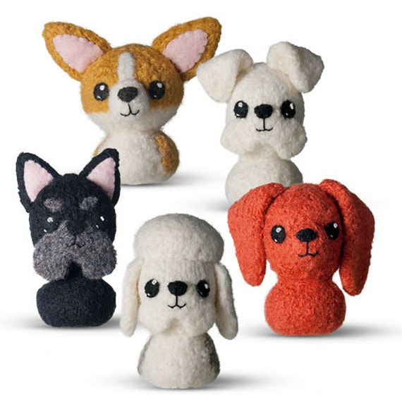In The Doghouse 1 Felted Knitting Pattern Amigurumi Dog