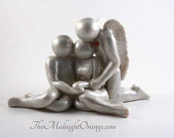 Loss of Parent, Sibling, Adult Child, or other loved one, memorial clay artwork - bereavement gift -  made to order you choose genders