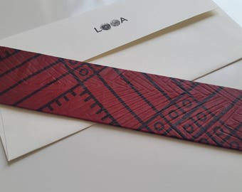 Fabric Bookmark (Red Box)