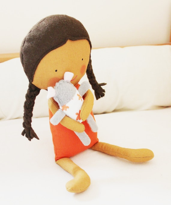 Doll Sewing Pattern Toy Cloth Doll Pattern PDF - Amber & Tilly from ...