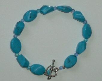 Sea Blue Chrysocolla Bracelet FREE SHIPPING