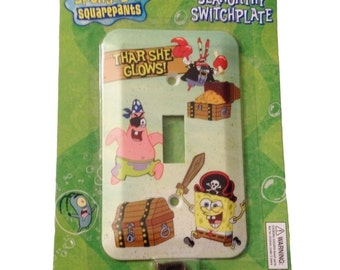Spongebob Squarepants Thar She Glows Light Switch Decorative Plate