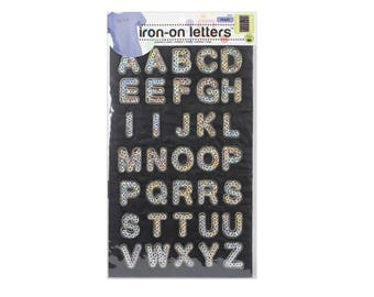 Silver Alphabets Iron On Patch, Alphabets Iron on Applique, Sequin Patch, Letter Applique, Alphabets Patch,Include all alphabets
