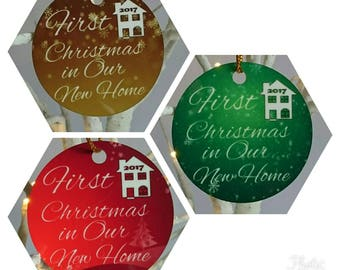 First Christmas in our new home 2017 - Tree Decoration - New - Handmade
