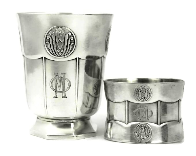 Art Deco Silver Baby Cup and Napkin Ring.