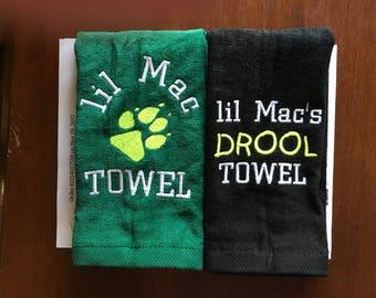 Dog gift, Pet towel, Dog towel, Personalized dog towel, cat towel, doggy gift, drool towel,