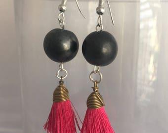 Oaxaca Black Pottery Earrings