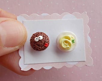 Spaghetti and Meatball Earrings - Food Studs Erarings - Pasta Earrings - Kawaii Earrings - Funny Earrings - Food Jewelry