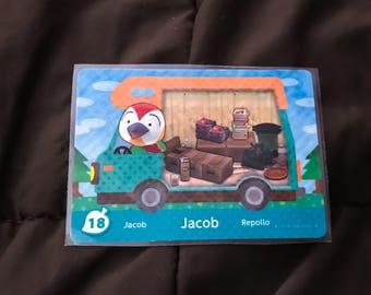 Jacob the Lazy Bird #18 Animal Crossing RV Amilibo Card HTF - RARE