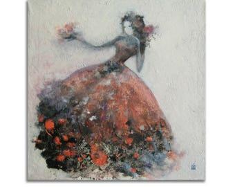 Woman in Art Original Painting acrylic on Canvas Diva