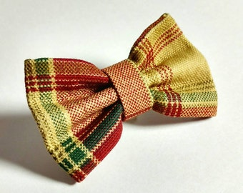 Ready To Ship Bow Tie - Cat or Dog Bow Tie - Sweet Fall Plaid - NO COLLAR