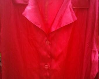 Victoria Secret Vintage Retro Red XL Sleep Shirt