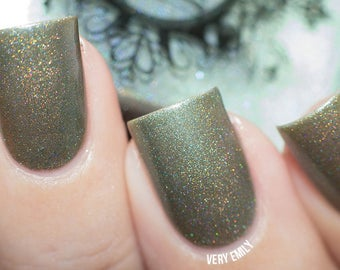 Green Corn Moon SPELL POLISH pale jade green holo nail polish!