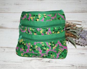Ethno purse, cosmetic, jewelry purse