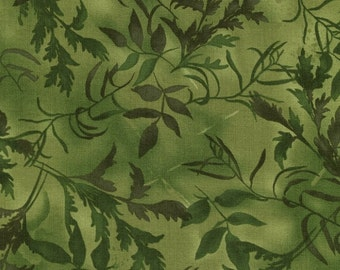 "Green vines and leaves.  Part of the ""Pandora"" line of fabric by Chong-a Hwang."