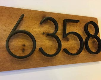 Modern House Numbers Sign - custom, personalized, house numbers, address sign, cabin, cottage, housewarming gift, rustic, Curb Appeal, Gift