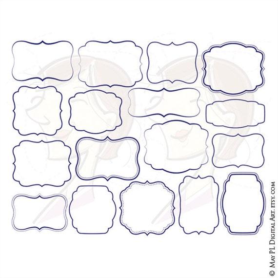 Blue frames navy blue borders vector clip art commercial use stopboris Choice Image