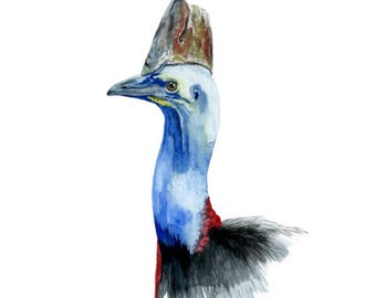Cassowary Print - Watercolour Painting