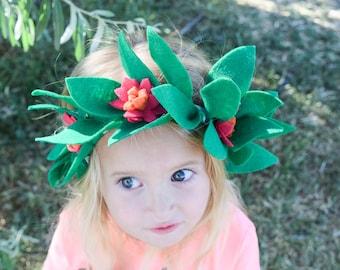 Moana crown, Moana flower crown, Moana dress up, Moana hair, Moana hair bow, Moana princess crown, Moana leaf crown, Moana shirt