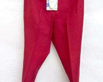 trousers time vintage brand Cimazur carmine red color