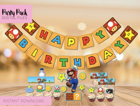 Super Mario Party Supplies Mario Birthday Party Decorations