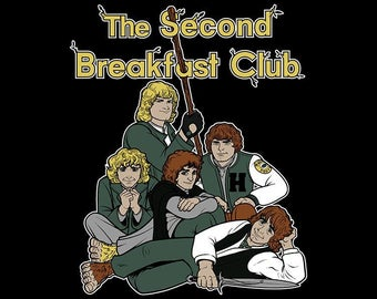 The Second Breakfast Club / Lord of the Rings - Hobbit inspired t-shirt