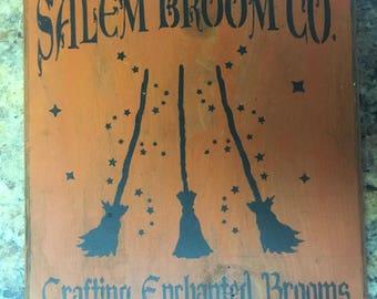 Halloween Olde Salem Broom Co. Sign