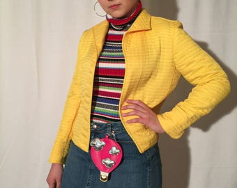 Vintage Yellow Women's Blazer