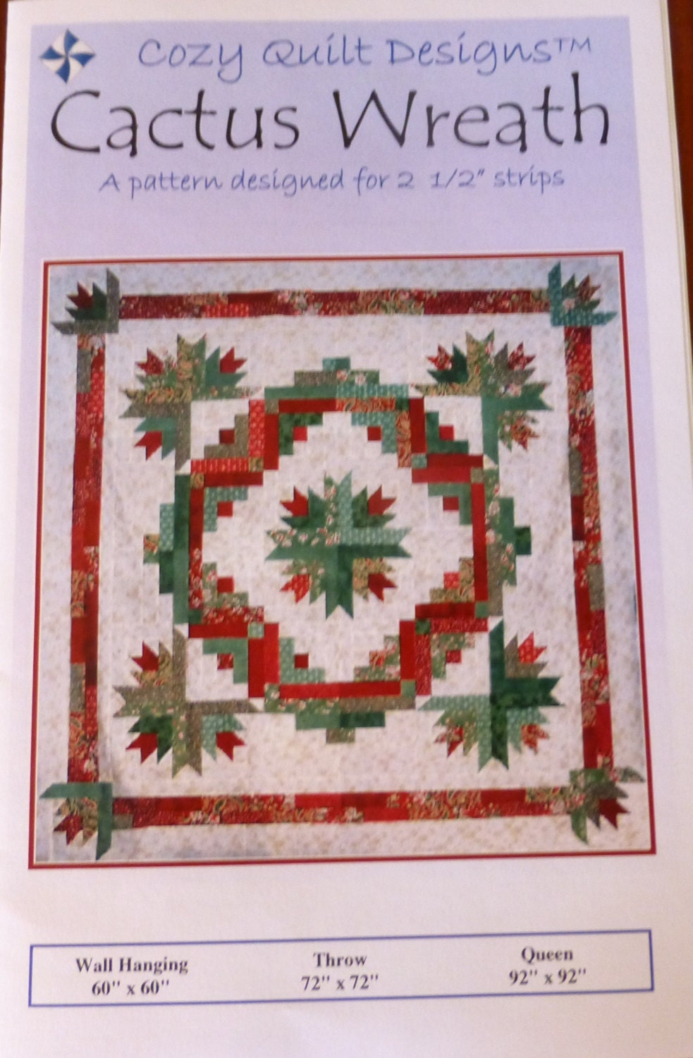 Cactus Wreath Pattern for Strips from Cozy Quilt Designs PT152 : cozy quilt designs - Adamdwight.com