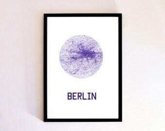 Berlin Custom City Map Poster Print