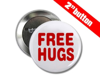 Free Hugs 2 inch Button