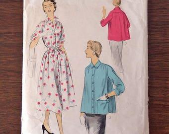Vintage 50s 1950s ADVANCE 6795 Maternity Dress Top Blouse Shirt Pattern Sz14/32/26.5/XS