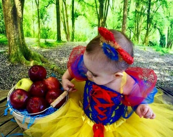 Snow White Style Costume Tutu  Dress *Snow White Inspired