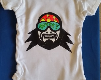Custom Macho Man Baby Onesie