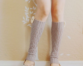 Small size gray  leg warmers,Cute Lacy leg warmers, boots long cuffs, gift for girls ,boots socks