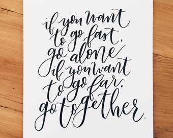 Go Together Print