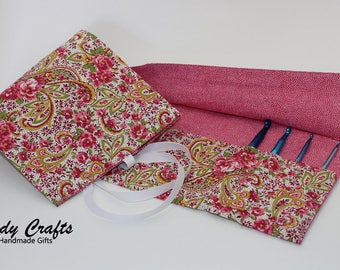 Hook Roll in pink paisley