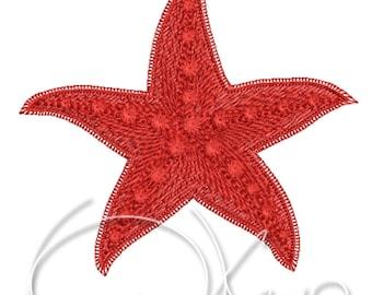 MACHINE EMBROIDERY FILE - Starfish
