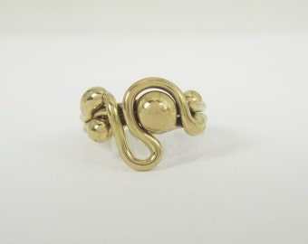 Freeform Handmade Bronze Ring (one of a kind)   BR047