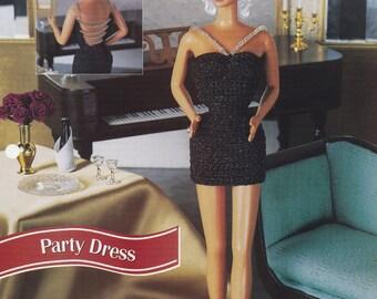 Party Dress, Annie's Fashion Doll Clothes Crochet Club Pattern Leaflet FCC15-04
