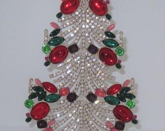 Czech Rhinestone Vintage Christmas Tree Elegant