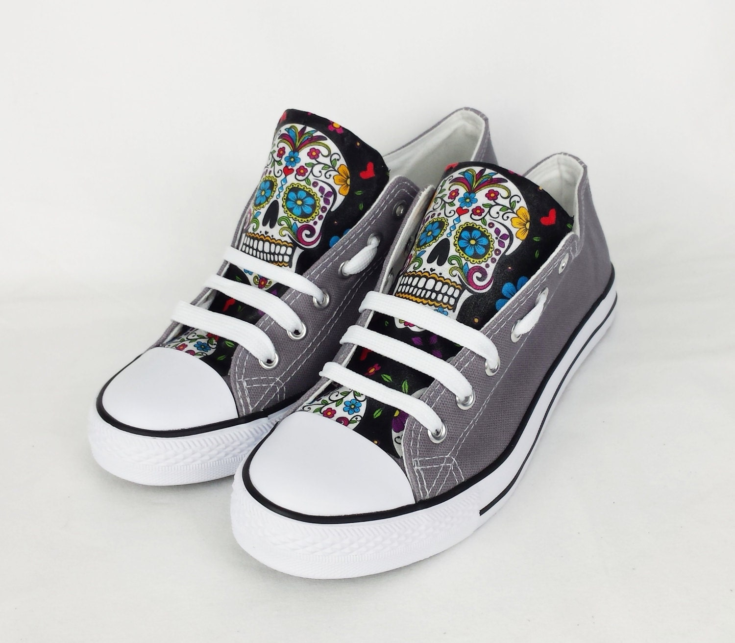 Day of the dead custom shoes sugar skulls women shoes