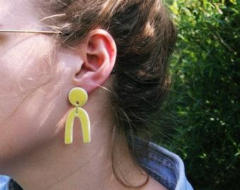 Ceramic yellow earrings