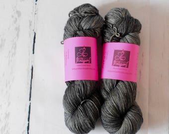 """Hand Dyed Yarn - """"Stormy"""" Colorway - HandDyed Yarn - Socks - Shawls"""